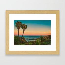 Warm Sunset Tropics (Color) Framed Art Print