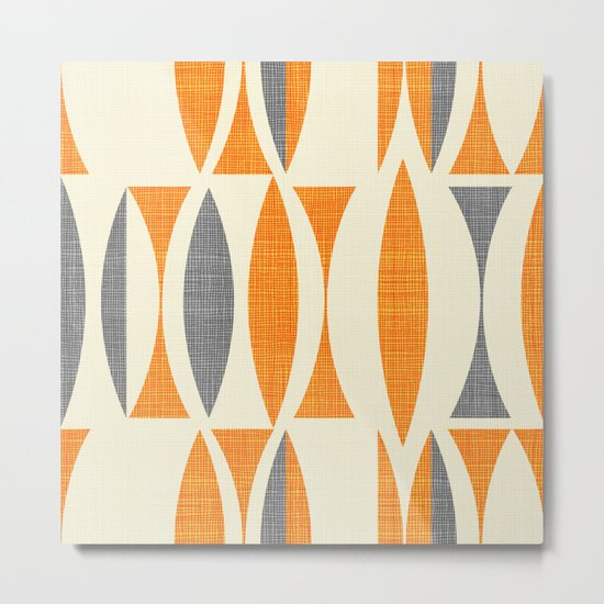 Seventies  orange Metal Print