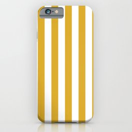 Maize Yellow Simple Basic Striped Pattern iPhone Case