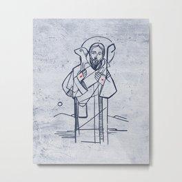 Jesus Christ Good Sheperd Metal Print