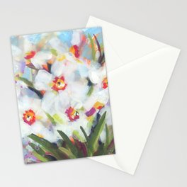 Little White Daffodils Stationery Cards