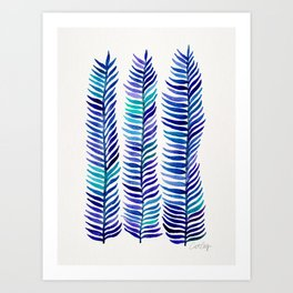 Indigo Seaweed Art Print