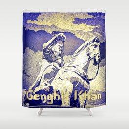 Spirit of the Great Gobi Desert - Genghis Khan Shower Curtain