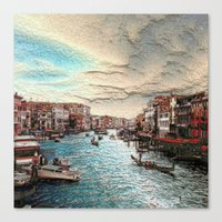 venice Canvas Prints featuring Venice by MehrFarbeimLeben