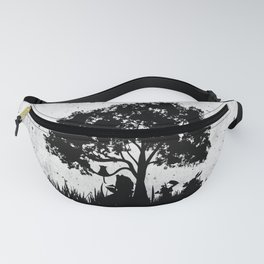 We're All Mad Here Alice In Wonderland Silhouette Art Fanny Pack