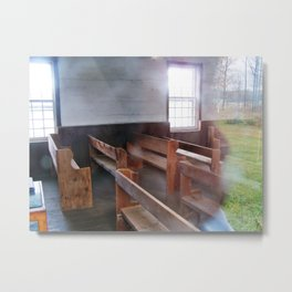 Through the Church Window Metal Print