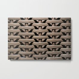 Background wicker rods Metal Print