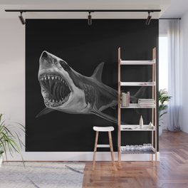 Great White Shark Wall Mural