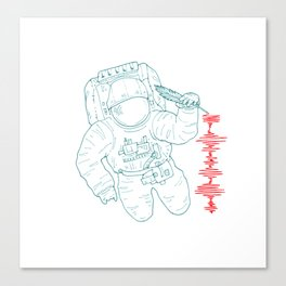 The message (spaceman) Canvas Print