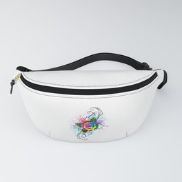 Patterned Rainbow Rose Fanny Pack