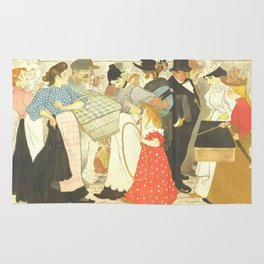 "Théophile Steinlen ""The Street (La rue), poster for the printer Charles Verneau"" Rug"