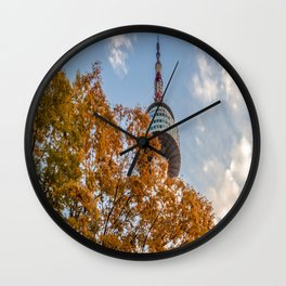 High Above the Trees (N Seoul Tower) Wall Clock
