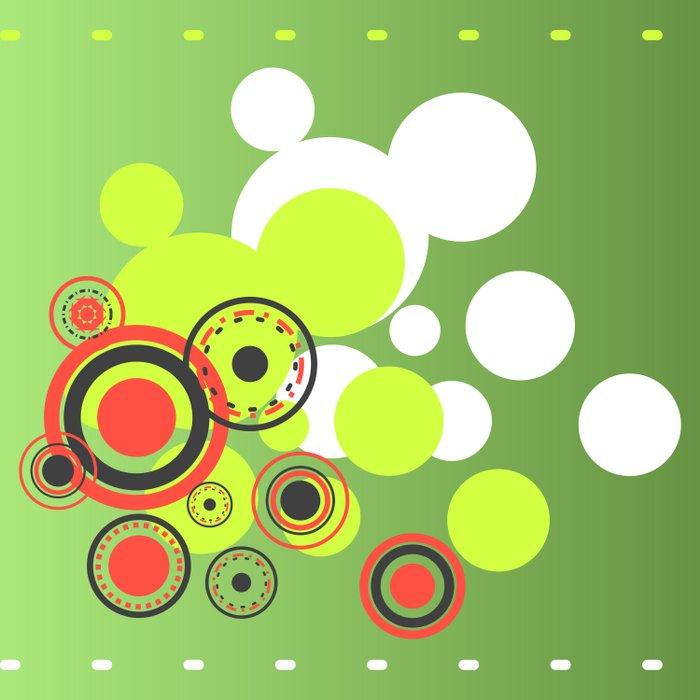 Abstract Circle Art Duvet Cover