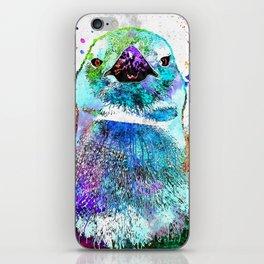 Penguin Watercolor Grunge iPhone Skin