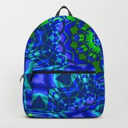 green blue kaleidoscope Backpack