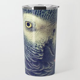 Gray Parrot Travel Mug