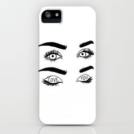 Love You Eyes iPhone Case