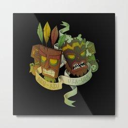 Aku Aku & Uka Uka Metal Print