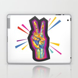 Raise a Peace Sign (Purple Spirit) Laptop & iPad Skin