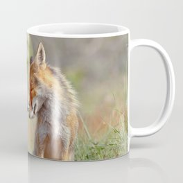 Fox Felicity - Mother and fox kit showing love and affection Coffee Mug