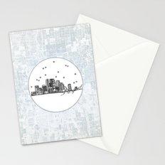 Minneapolis, Minnesota City Skyline Stationery Cards
