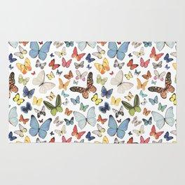 Watercolor Butterflies Rug