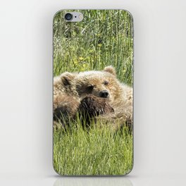 Counting Salmon - Bear Cubs, No. 3 iPhone Skin