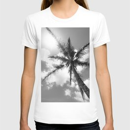 Tropical Palm Trees Black and White T-shirt