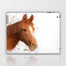 Brown and White Horse Laptop & iPad Skin