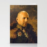 replaceface Stationery Cards featuring Bruce Willis - replaceface by replaceface