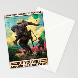 You may see me struggle Stationery Cards