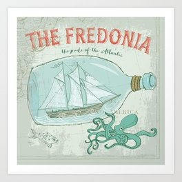 The Fredonia—Pride of the Atlantic Art Print