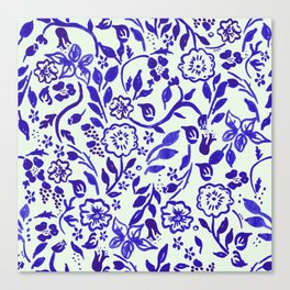 Boho Vine Floral Canvas Print