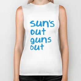 Suns Out Guns Out Vest Mens Vest Gym Surf Movie Summer 22 Jump Street Gun T-Shirts Biker Tank