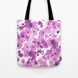 Lilla - watercolor paint inky spots abstract painting trendy decor Tote Bag