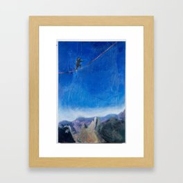 Chasing Highlines Framed Art Print
