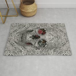 Lace Skull 2 Rug