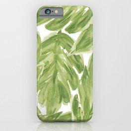 Bold Leaf Art iPhone Case