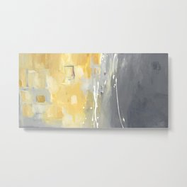 50 Shades of Grey and Yellow Metal Print