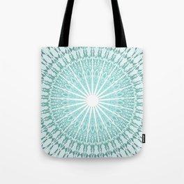 Mint Mandala Tote Bag