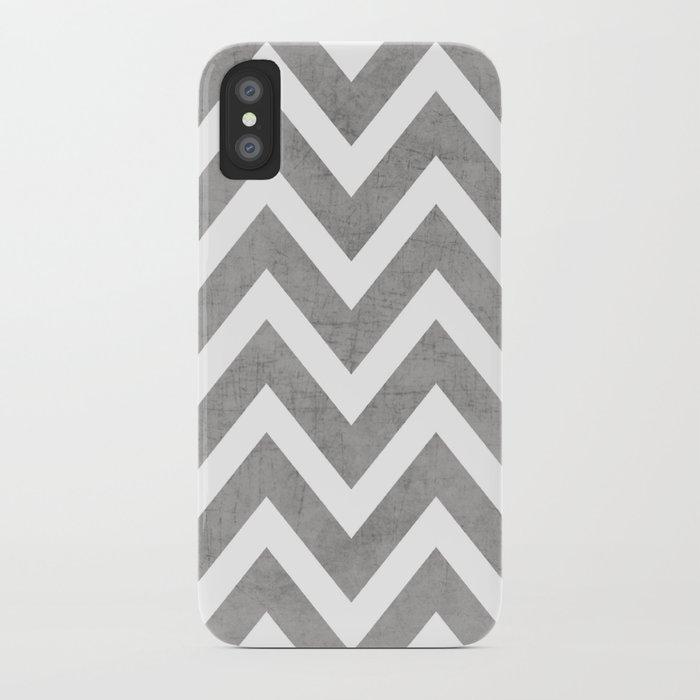 gray chevron iPhone Case
