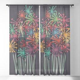 Flower Bouquet Sheer Curtain