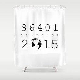 86401 Leap Second 2015 Shower Curtain