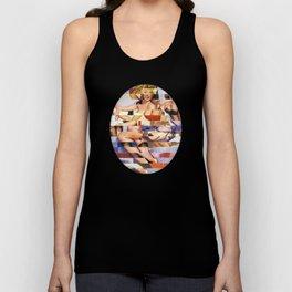 Glitch Pin-Up Redux: Taylor & Tiffany Unisex Tank Top