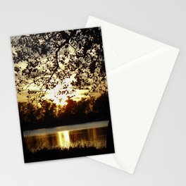 Kansas Golden Sunset Reflection Stationery Cards