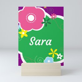Sara: Personalized Gifts for Girls and Women Mini Art Print