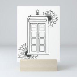 Doctor Who Tardis Illustration Design Mini Art Print