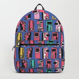 Memphis Eighties Stylized Retro Cassette Tape Player Backpack