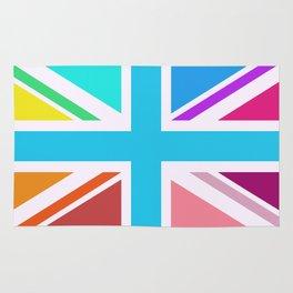 Union Jack/Flag Design Multicoloured Rug