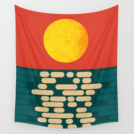Sun Over The Sea - Afternoon Wall Tapestry